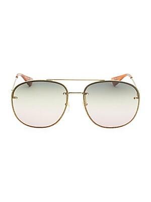 509018dab917a Gucci - Glitter Wire Aviator Sunglasses - saks.com