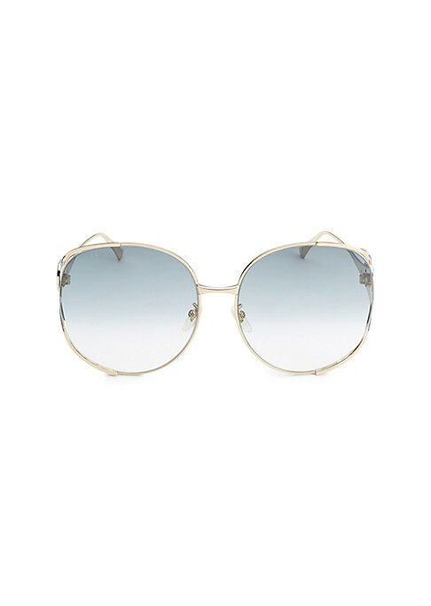 Image of Gradient lenses add a touch of glamour to sunglasses.63mm lens width; 17mm bridge width; 130mm temple length.100% UV protection. Nylon gradient lenses. Metal. Made in Italy.