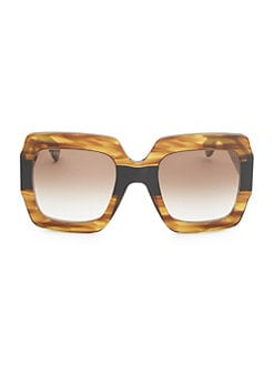 13cb8c26b834 Gucci. 54MM Oversized Square Sunglasses