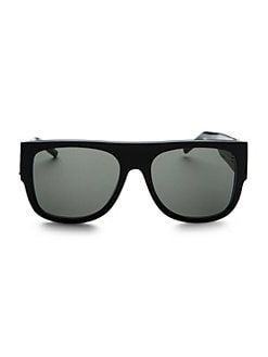 11d0606dfb Saint Laurent. Squared Flat Top Sunglasses