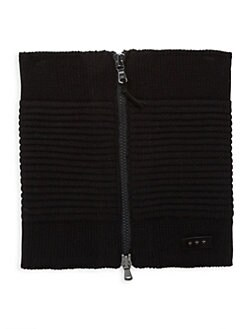 Ottoman Knitted Zip Neckwarmer BLACK. Product image