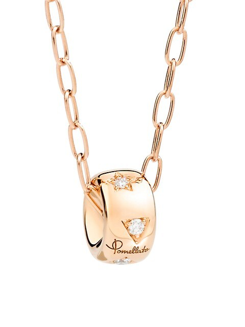 Iconica Diamond & 18K Rose Gold Necklace