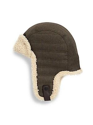 128653bdfe1ea Ugg - Woven Shearling Trapper Hat - saks.com