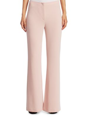 """Image of This soft flared pant lends a sophisticated look. Zip fly closure. Back flap pockets. Lined. Rise, about 11"""".Inseam, about 31"""".Triacetate/polyester. Dry clean. Imported. Model shown is 5'10"""" (177cm) wearing a size 4."""