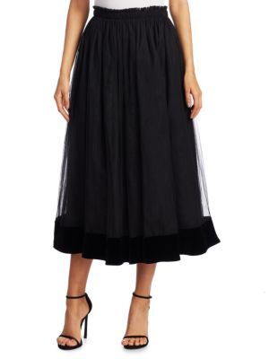 "Image of Tulle skirt crafted from polyester. Elasticized waist. Lined. About 31"" long. Polyester. Dry clean. Imported. Model shown is 5'10"" (177cm) wearing a size 4."