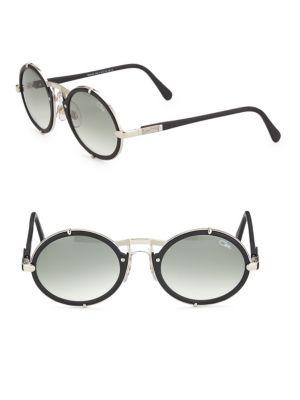 400b3a70265c Cazal Round Sunglasses In Dark Grey