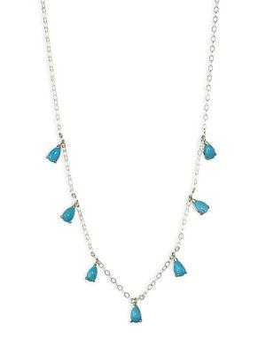 ILA Turquoise & 14K Yellow Gold Necklace
