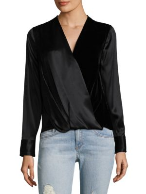 Victor Silk & Velvet Blouse by Rag & Bone
