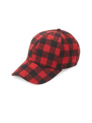 GENTS Executive Plaid Baseball Cap in Red