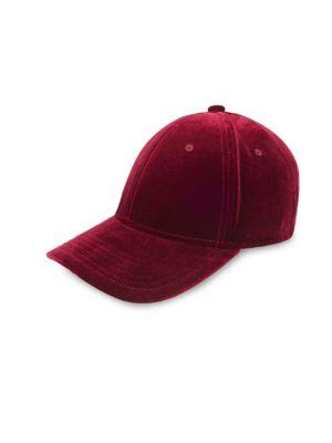 GENTS Executive Velvet Baseball Cap in Red