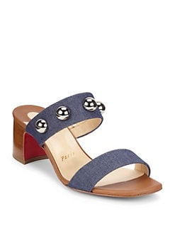 58ede3c816e8 Christian Louboutin. Simple Bille 55 Leather Sandals
