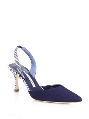 Carolyne D'orsay Heels by Manolo Blahnik