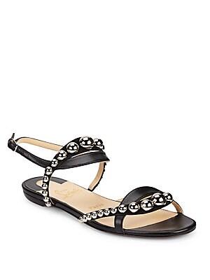 e1acc0b160ad Christian Louboutin - Galleria Leather Stud Flats - saks.com