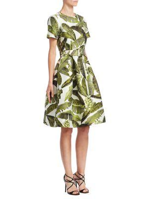 Buy Oscar de la Renta Banana Leaf Dress online with Australia wide shipping