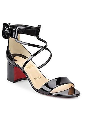 3eaf984a5c6 Christian Louboutin - Choca 55 Patent Leather Sandals - saks.com