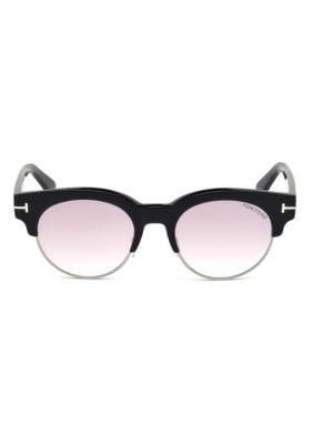 Henri 52Mm Round Cat-Eye Sunglasses, Black