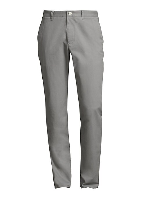 "Image of Comfortable cotton-blend pants for casual and business wear. Belt loops. Button closure. Side slant pockets. Back buttoned welt pockets. Slim-fit. Inseam, about 32"".Cotton/lycra. Machine wash. Imported."