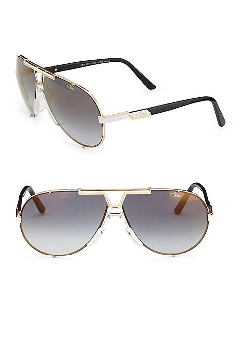 Image of Aviator sunglasses with half design on rim.135mm temple length. Saddle nose bridge. Metal. Imported.