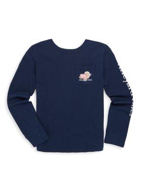 Toddlers Little Girls  Girls Turkey Whale Cotton Sweatshirt