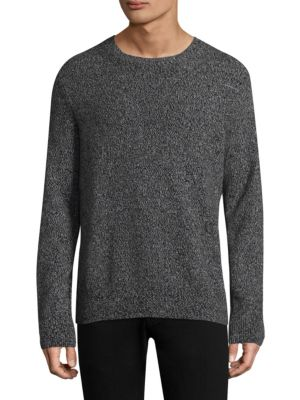 Image of .Cashmere sweatshirt featuring rib-knit details. .Crewneck. .Long sleeves. .Rib-knit neck, cuffs, and hem. .Cashmere. .Dry clean. .Imported. .