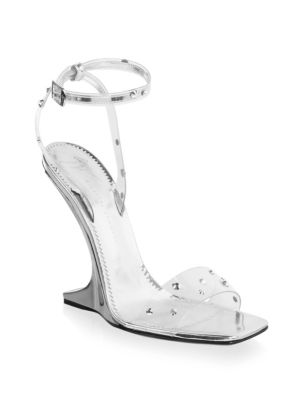- Transparent Plexi Wedge With 'Sculpted' Heel Picard Shining in Silver