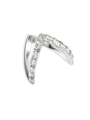 Anita Ko 18K Baguette Diamond V-Ring