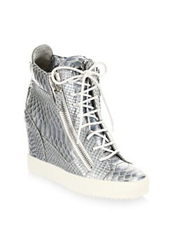 067da86e9b Giuseppe Zanotti Lamay Lorenz Leather Wedge Sneakers