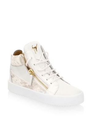 May London Leather Sneakers, White