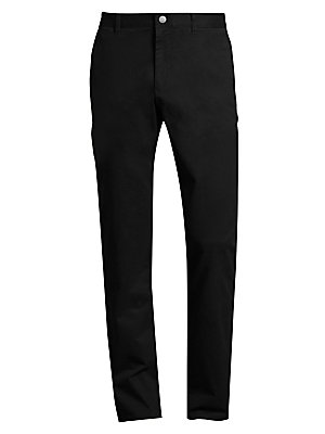 """Image of Casual cotton-blend pants in straight cut style Belt loops Zip fly with button closure Side slip pockets Back buttoned welt pockets Slim-fit Inseam, about 32"""" Cotton/lycra Machine wash Imported. Men Adv Contemp - Contemporary Tops. Bonobos. Color: Chocola"""