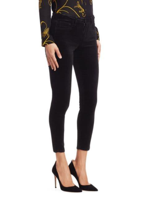 L'Agence Margot High-Rise Ankle Skinny Velvet Jeans | SaksFifthAvenue
