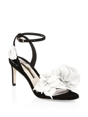 Jumbo Lilico Suede Mid Sandals, Black White