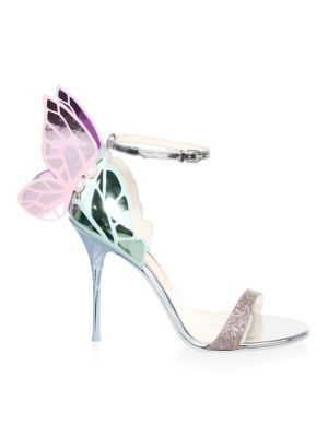 Chiara Wing Leather High Heel Sandals by Sophia Webster