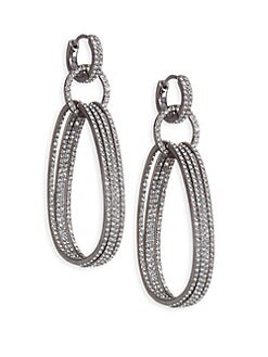 Holiday Ear Huggy Drop Earrings SILVER. QUICK VIEW. Product image