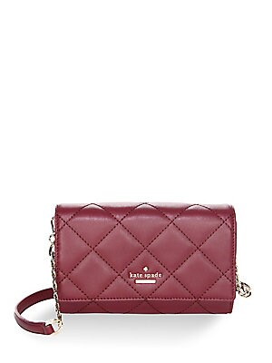 Kate Spade New York - Emerson Place Agnes Quilted Leather Clutch - saks.com c762c00817d25
