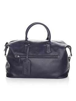 e799bde481 Polo Ralph Lauren. Pebbled Leather Duffle Bag