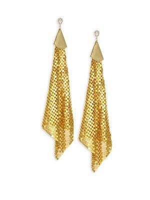 Straylight Dancer Drop Earrings, Yellow Gold