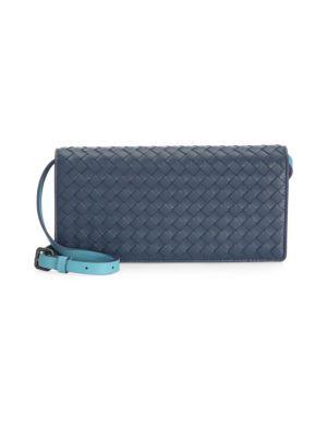 Basket Weave Continental Wallet by Bottega Veneta