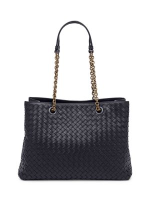 Woven Leather Tote by Bottega Veneta
