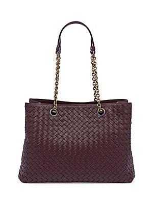 d2e884775a4b Bottega Veneta - Basket Weave Leather Tote - saks.com