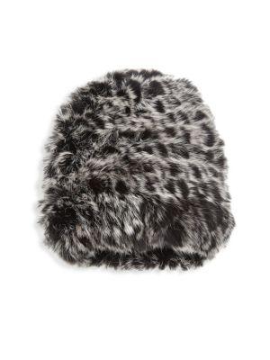 Kids Dip Dye Rabbit Fur Hat