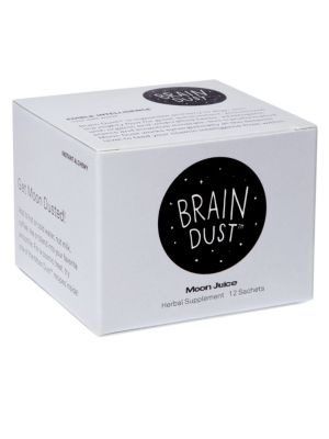 Image of Moon Juice Brain Dust is an enlightening formula to align you with the cosmic flow needed for great achievement by feeding good juju to the brain via ingredients that help to nourish + aid areas of your noggin that promote creativity. To use, add one sach