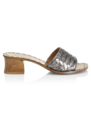 Leather Slip On Sandals by Bottega Veneta