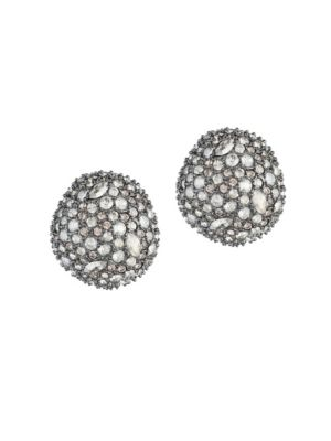 ALEXIS BITTAR Elements Crystal Encrusted Button Stud Earrings in Gold