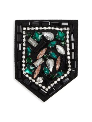 "Image of .EXCLUSIVELY AT SAKS FIFTH AVENUE. Sparkling pin embellished with faceted appliques.6""W x 6""L.Stone/ABS/copper. Imported."