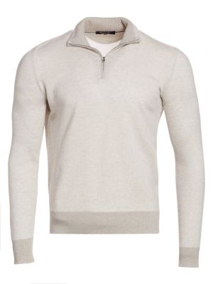 Loro Piana Sweaters Roadster Cashmere Half Zip Sweater