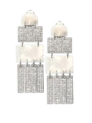 Confetti Crystal Skyscraper Earrings by Lele Sadoughi