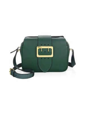 Burberry Leathers Zip Buckle Leather Crossbody Bag