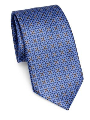 Silk Wavy Diamond Tie by Ermenegildo Zegna