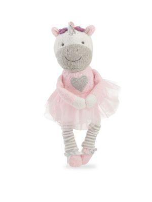 Babys Unicorn Knit Cotton Toy