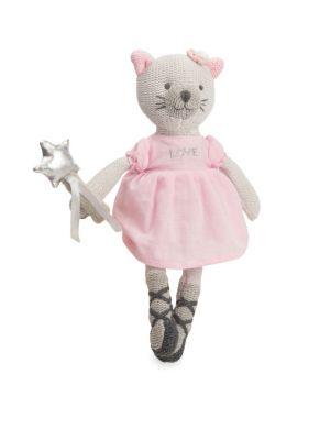 Babys Kitty Knit Cotton Toy